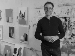 Matthew Browne in his Auckland studio. Image: Artists Alliance.