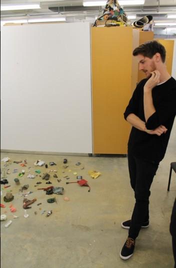 Alex Bartleet in his AUT University Studio. Image: Artists Alliance