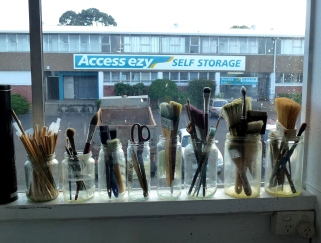 Jo Dalgety's studio window