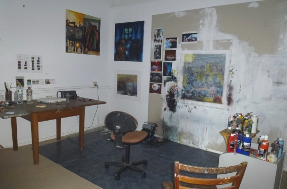 Mark Bosley's studio