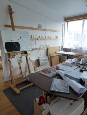 Sue Thomas's studio