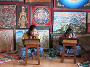 Thangka women painters