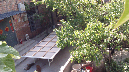Summer in Beijing from the studio window, March 2015.