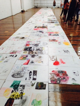 Mike Parr, The side I least like, 1998 - 2013, at Carriageworks.
