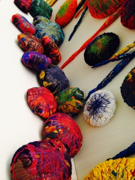 Sheila Hicks, The Embassy of Chromatic Delegates, 2015–16, at the Art Gallery of New South Wales.