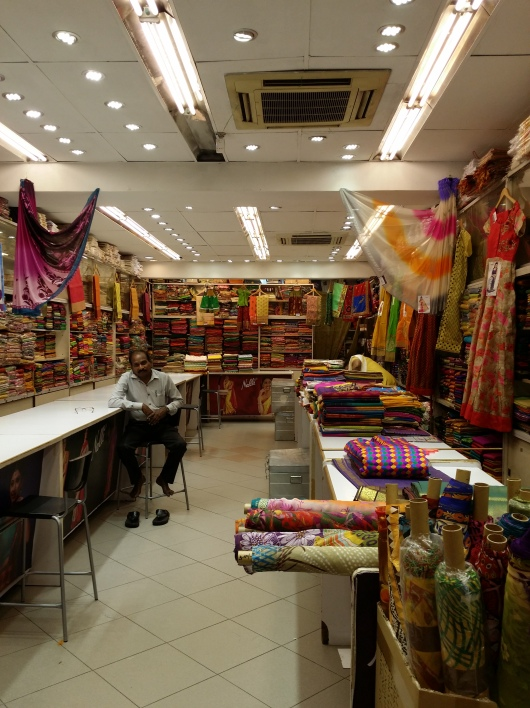 A fabric shop in Little India.