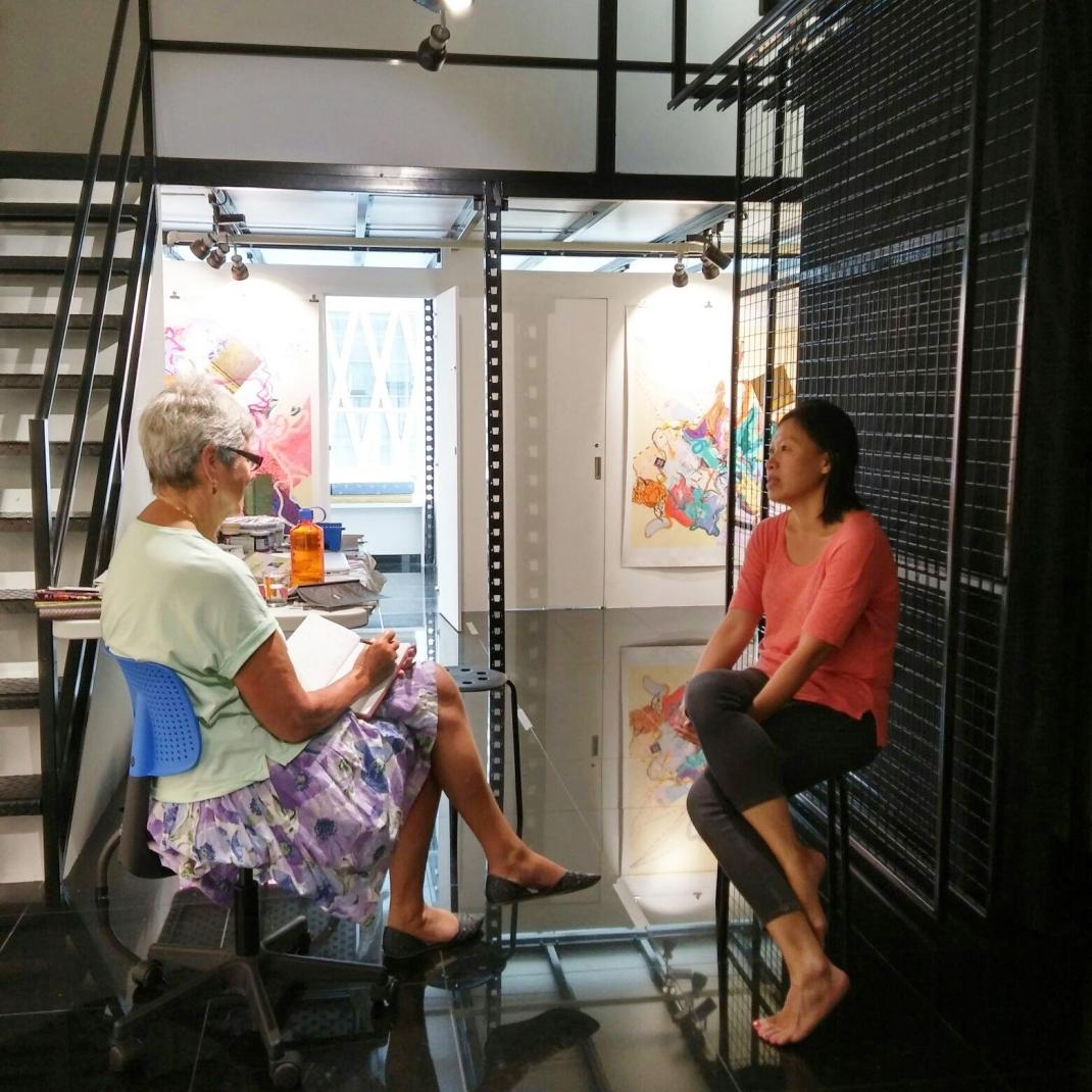 Visit of Jennifer King (Asia NZ Foundation) at Instinc studio