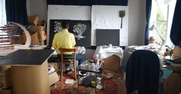 Peter Madden in his studio, photo credit: Artists Alliance