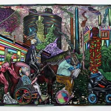 Kenneth Merrick, Foible, acrylic on canvas, 1700 x 2300 mm, 2015_resized