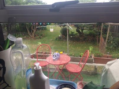 garden from Kitchen window